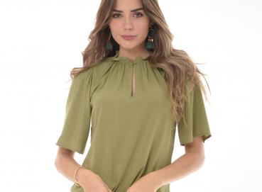 Women's Olive Green blouse- 1331 Image