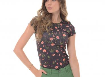 Women's multicolored t-shirt-1364 Image