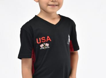 Black racing t-shirt for boys Image
