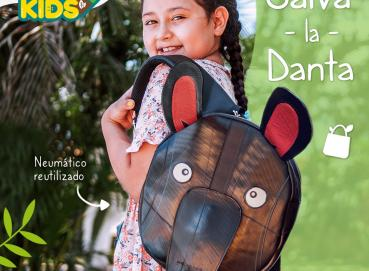 Danta Tapir Mountain Kids Backpack - Recycled Tires Tubes Image