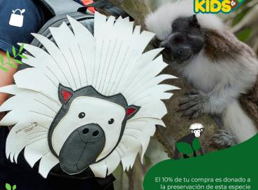 Monkey Marmoset Kids Backpack - Recycled Tire tubes Image