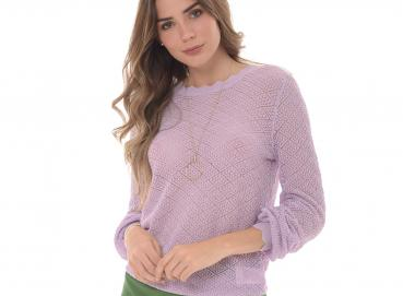 Women's violet sweater-1424 Image