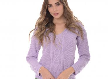 Women's violet sweater-1425 Image