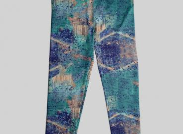 BLUE PRINT LEGGINS FOR WOMEN Image