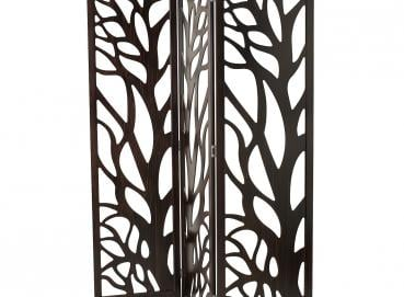 PANEL ROOM DIVIDER TREE VEINED WENGE WOOD SCREEN Image