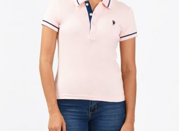 Light pink Dallas polo shirt for women  Image