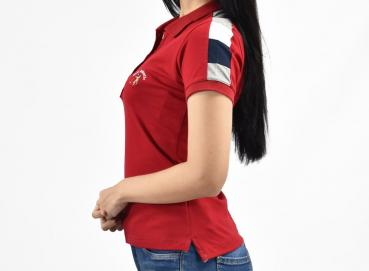 Zaragoza red line polo shirt for women Image