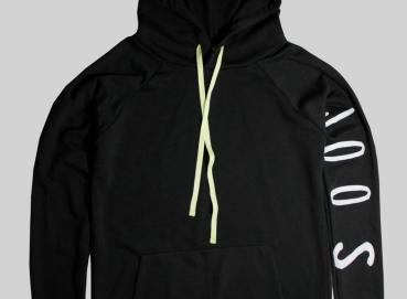 PRINTED HOODIE ON BLACK SLEEVE Image