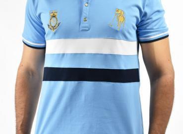 Country 2 little blue polo shirt for men Image