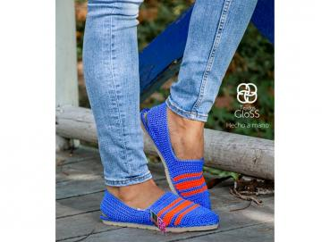 Espadrille for women in handmade - knitted in crochet- STEFY ATD4 Image