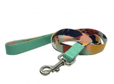 Canvas and Vegan Leather Leash - ABSTRACT CITY Image