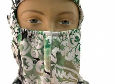 Balaclava mask in printed knit fabric Image