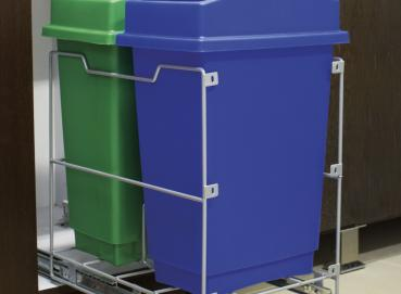 4362 Classic double waste bins (Blue and Green) Image