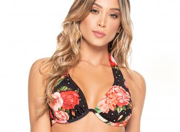 BELLA SPAIN UNDERWIRE REVERSIBLE HALTER TOP Image
