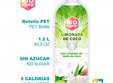 BioKoko - Coconut Lemonade with Coconut Cubes ( Bio NanoCellulose ) 1.2 L Image