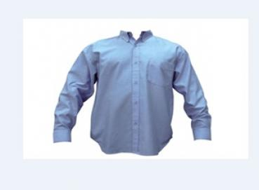 long sleeve oxford shirt with one left side pocket Image