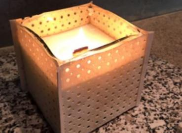 Candle - Glass and leather box Image