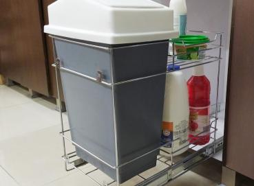 3353 Waste bin with double drawer basket Image