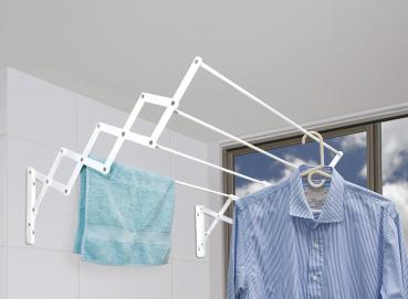 5012 4 tubes cold rolled expandable wallmounted drying rack Image