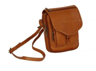Leather small bag for personal documents Image