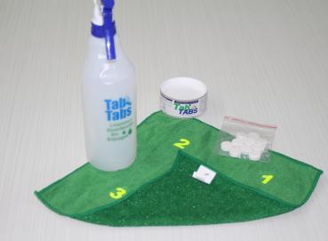 Tab tabs or green tabs disinfectant cleaner Image