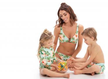 Matching Swimsuits and Trunks for all the family Image