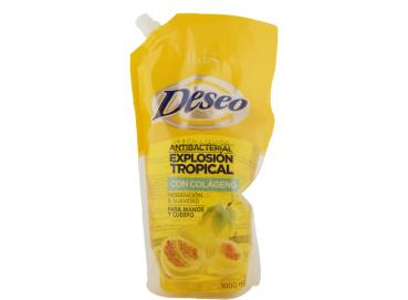 Deseo® Tropical Explosion Antibacterial Liquid Soap with Collagen Doypack x 1000ml Image