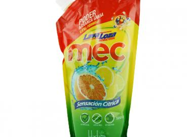 Mec® Citrus Sensation Antibacterial Liquid Dishwasher Doypack x 500ml Image