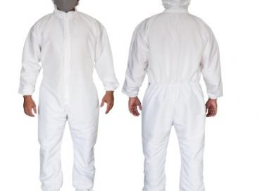 100% polyester fabric coverall with antifluid finish made - with zipper - Non sterile. Image