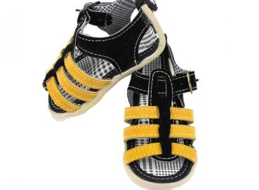 Sandal Tapitap Baby Black Gold Child Image