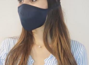Anti-fluid mask with tie straps (Reusable) Image