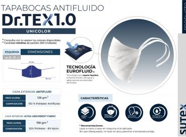Antifluid Face Masks - One color Dr. Tex 1.0 Image