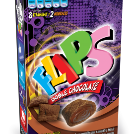 CEREAL FLIPS DOBLE CHOCOLATE 220GR
