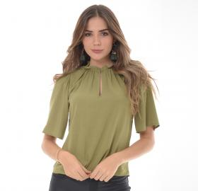 Women's Olive Green blouse- 1331