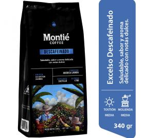 DECAFFEINATED EXCELSO COFFEE - MONTIE COFFEE - SMALL SHIPMENTS FROM 24 UNITS