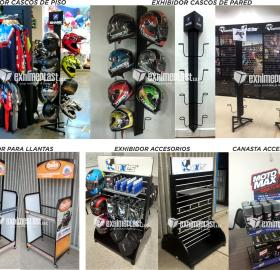 Displays for motorcycle parts and accessories
