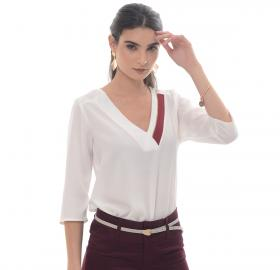Women's white blouse-1551