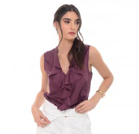 Women's violet blouse-1327